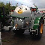 2000 gallon fully recessed c/w rain gun